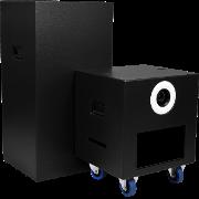 Cube in Schwarz mit Towerbox